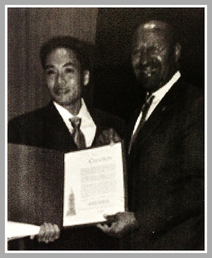 Andy Truong with Mayor Michael Nutter